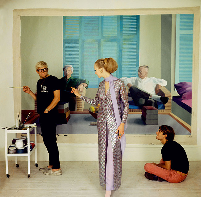 David-Hockney-Peter-Schlesinger-and-Maudie-James-by-Cecil-Beaton,-1968